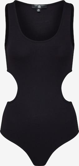 Palaidinė be rankovių 'Ribbed  Bodysuit Black' iš Missguided , spalva - juoda, Prekių apžvalga