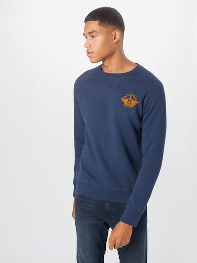 Dockers Sweatshirt in dunkelblau / orange: Frontalansicht