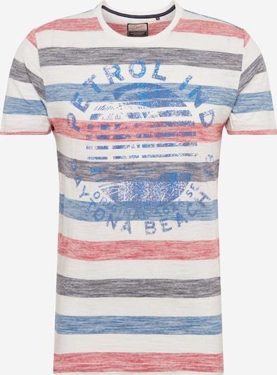 Petrol Industries T-Shirt in blau / rot / weiß, Produktansicht