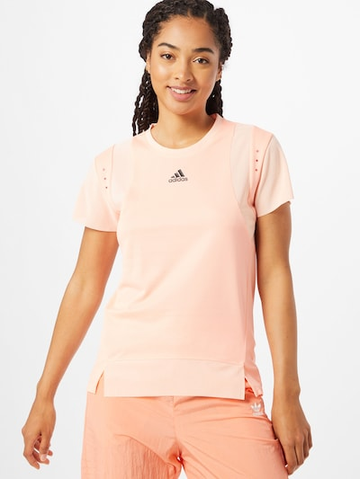 ADIDAS PERFORMANCE Functioneel shirt in de kleur Lichtroze / Zwart: Vooraanzicht