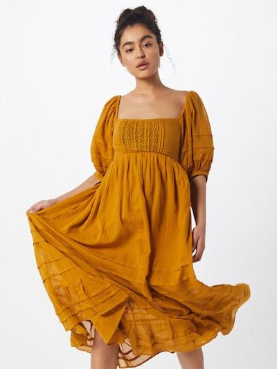 Free People Kleid 'Lets be Friends Midi' in orange, Modelansicht