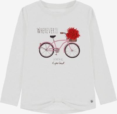 TOM TAILOR Shirt in mischfarben / weiß, Produktansicht