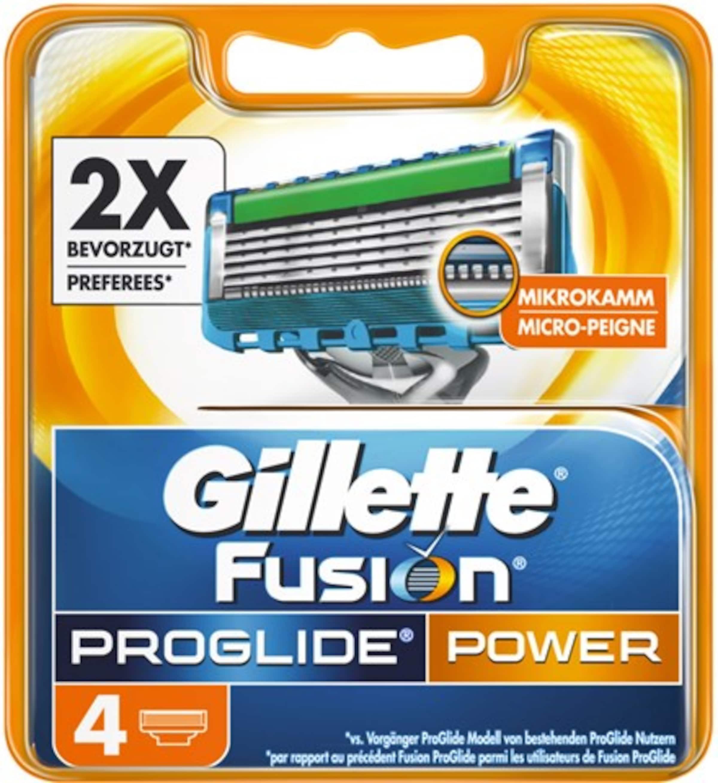 BlauSilber 'fusion Gillette Proglide StckIn Power'Rasierklingen4 wvNn8m0