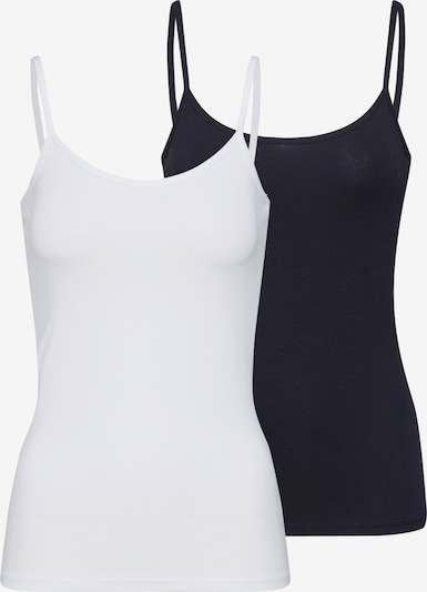 ONLY Top 'LOVE SINGLET 2PACK JRS' in de kleur Zwart / Wit, Productweergave