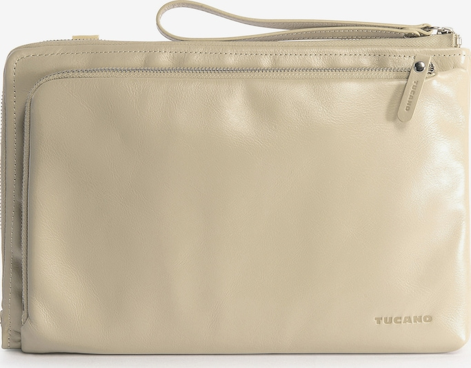 TUCANO Laptoptas 'Leather bag 11 inch' in de kleur Beige / Zilver, Productweergave