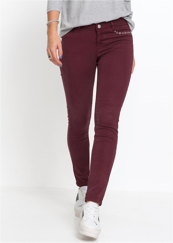 bonprix Stretch-Hose in bordeaux: Frontalansicht