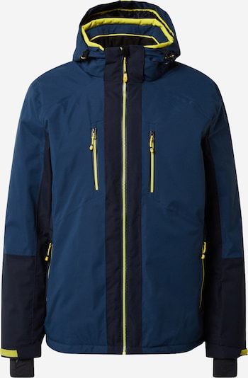 KILLTEC Functional jacket 'Savognin' in sky blue / dark blue / yellow, Item view