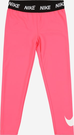 Nike Sportswear Leggings 'DRI FIT SPORT ESSENTIALS SWOOSH LEGGING' in neonpink / schwarz / silber, Produktansicht
