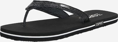 fekete ESPRIT Ujjelválasztó-pántos szandál, Termék nézet
