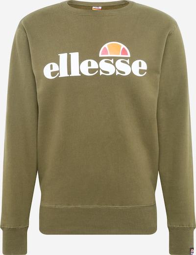 ELLESSE Sweatshirt in grün / khaki / orange / weiß, Produktansicht