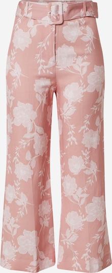 Forever New Pantalon 'Amara Linen Blend Pant' en rose / blanc, Vue avec produit