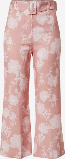 Forever New Hose 'Amara Linen Blend Pant' in rosa / weiß, Produktansicht