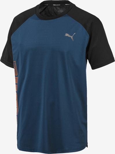 PUMA T-Shirt 'Collective Loud' in blue denim / orange / schwarz, Produktansicht