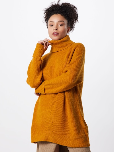 OBJECT Pullover 'OBJTIANNA L/S KNIT TUNIC A DIV' in cognac, Modelansicht