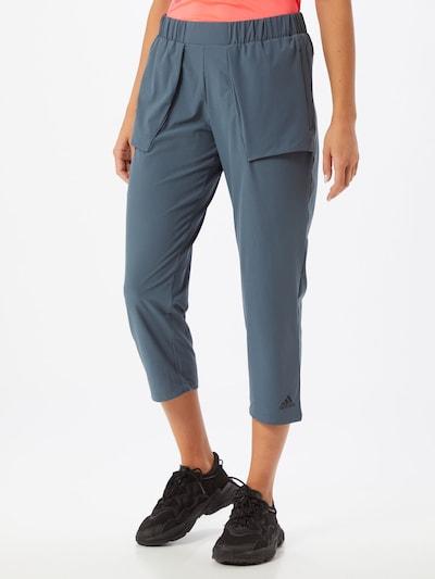 ADIDAS PERFORMANCE Pantalon de sport en bleu fumé: Vue de face