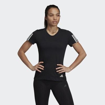 Sportiniai marškinėliai 'Run It' iš ADIDAS PERFORMANCE , spalva - juoda / balta: Vaizdas iš priekio