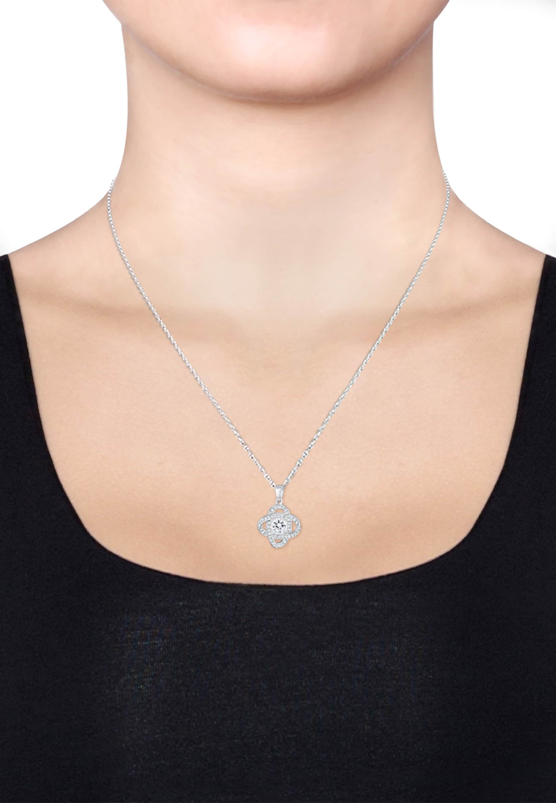 Elli 'knoten' Elli Silber 'knoten' Halskette In Halskette OXPTwZiku