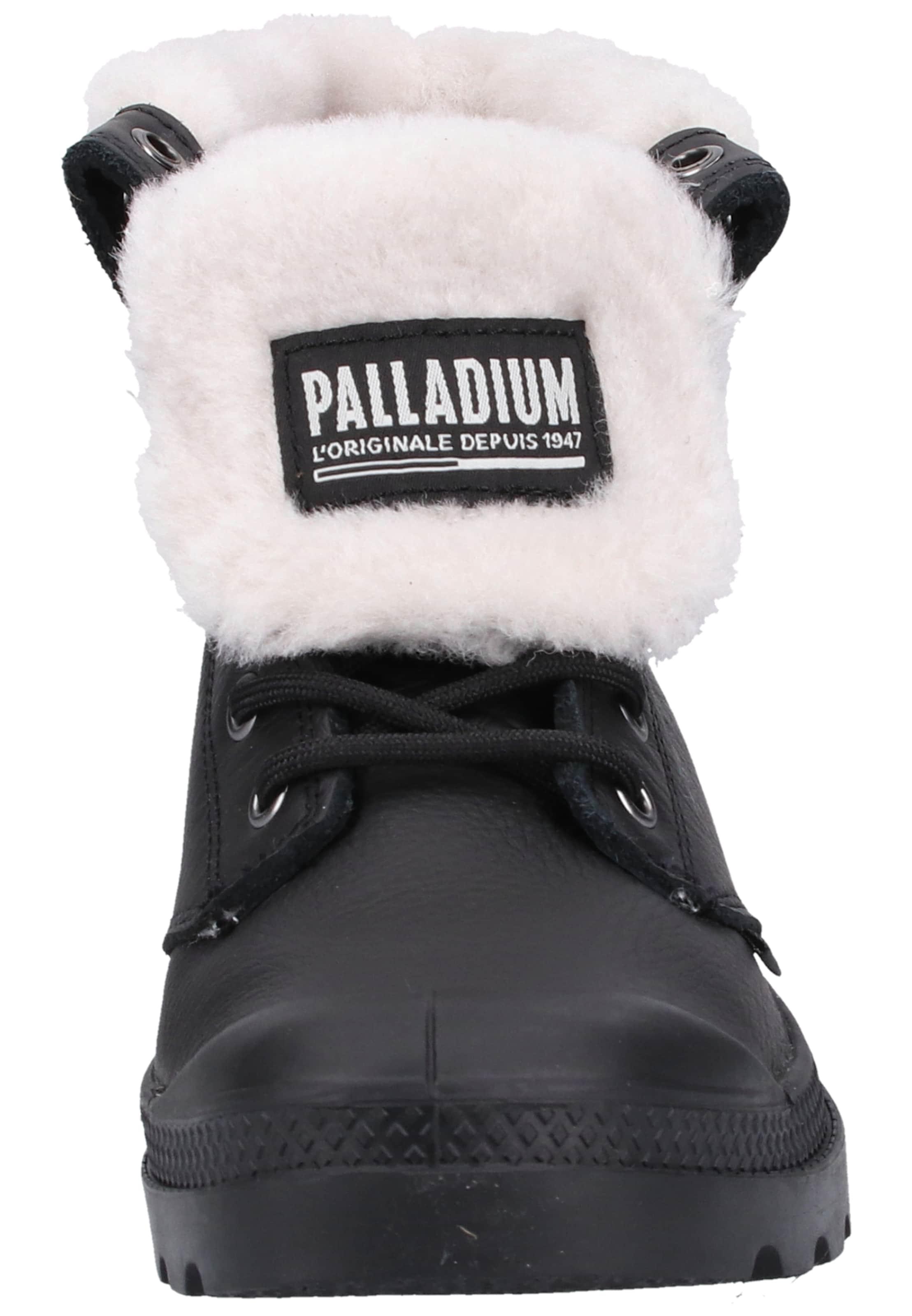 Palladium À Lacets Bottines En CrèmeNoir byv6Yf7g