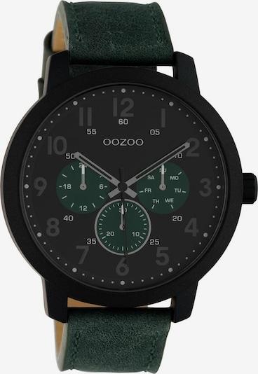 OOZOO Analoguhr in dunkelgrün / schwarz, Produktansicht
