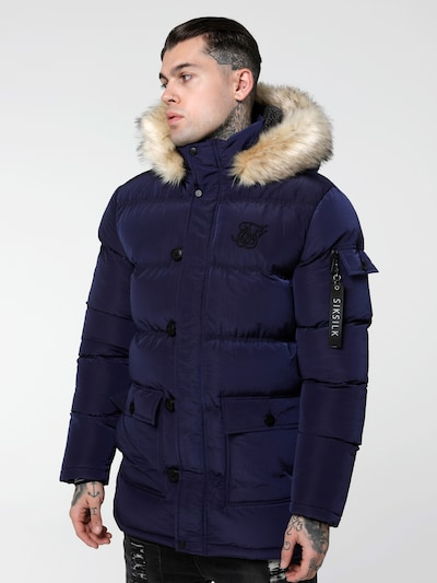 SikSilk Parka 'SikSilk shiny puff parka' in navy, Produktansicht