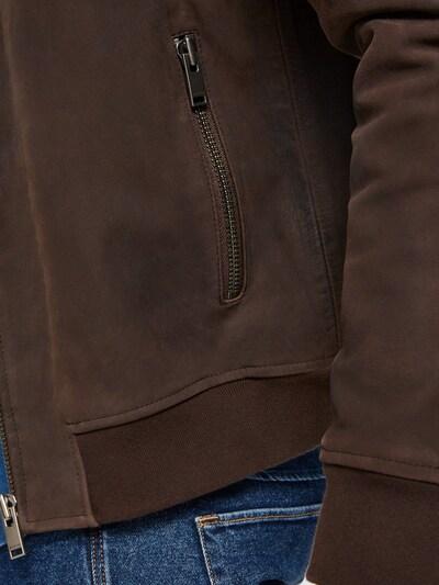 SELECTED HOMME Jacke in dunkelbraun: Frontalansicht