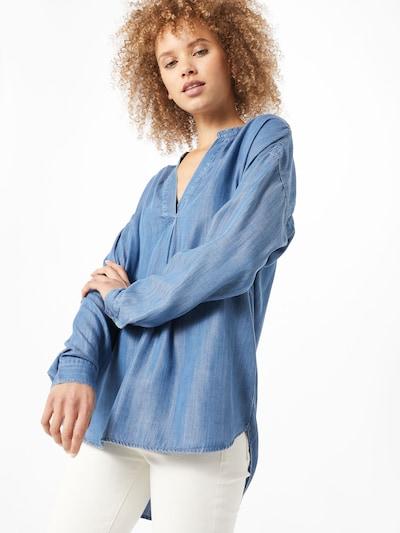 ESPRIT Damen - Blusen & Tuniken 'Blouse denim' in blue denim, Modelansicht