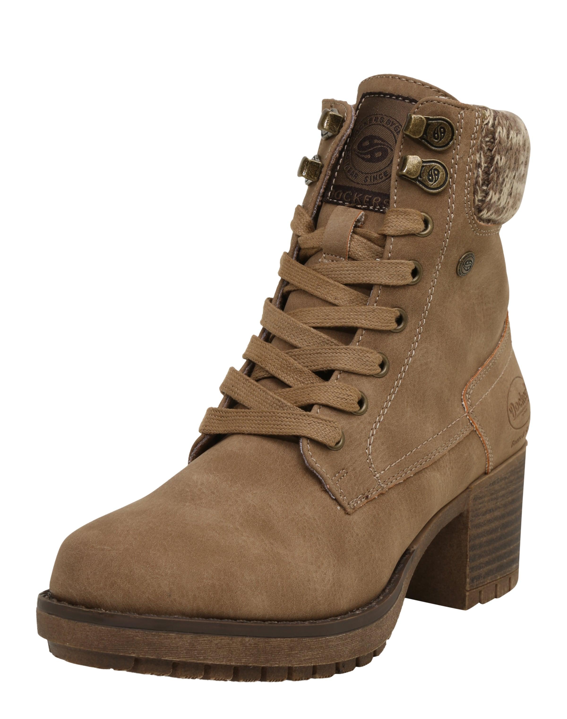 Dockers by Gerli | Schnürstiefelette mit Strickbesatz Schuhe Gut getragene Schuhe