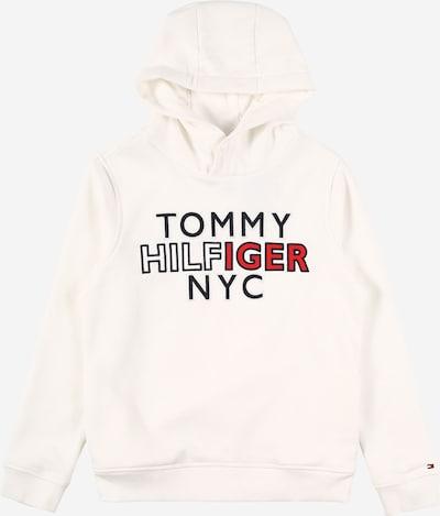 Bluză de molton TOMMY HILFIGER pe roșu / negru / alb, Vizualizare produs