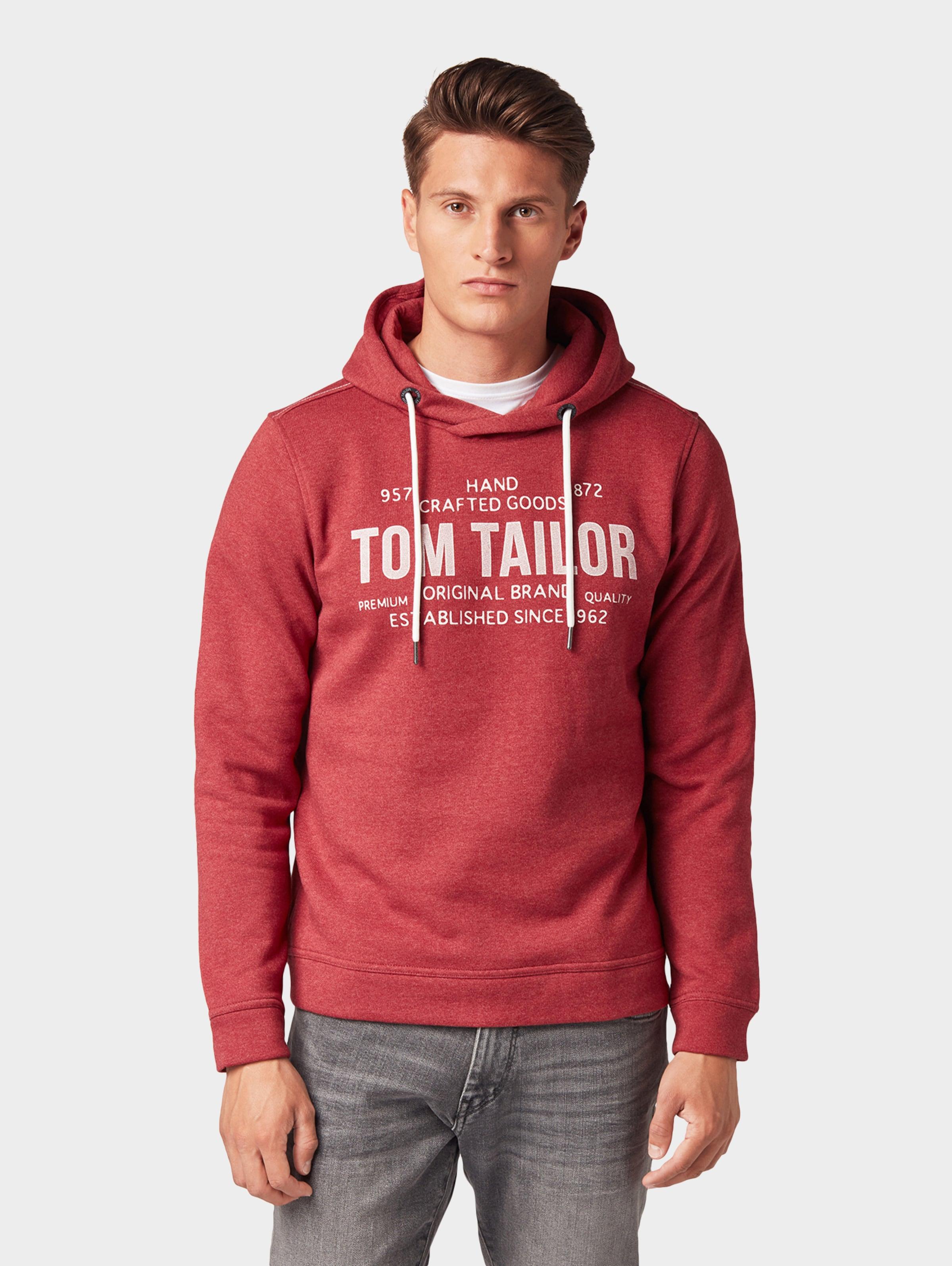 Rot Tom Hoodie In Tailor Print Mit xWBrdeCo