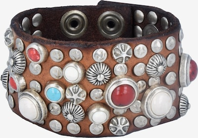 Campomaggi Armband Leder 20 cm in braun / silber, Produktansicht