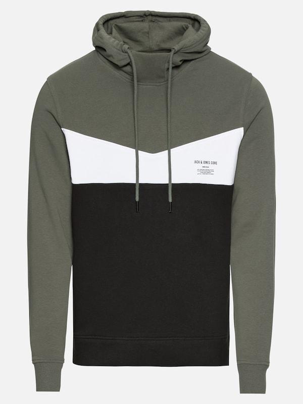 JACK   JONES Sweatshirt  JCOCLARENS SWEAT MIX PACK  in dunkelgrün   schwarz    weiß   ABOUT YOU cb829f7b9d