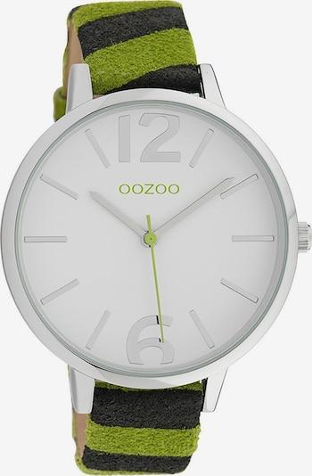 OOZOO Uhr 'C10203' in hellgrün / schwarz / silber / weiß, Produktansicht