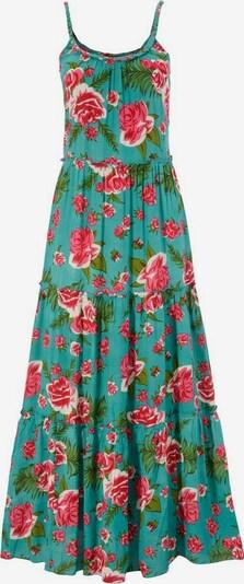 Aniston CASUAL Kleid in grün / mischfarben, Produktansicht