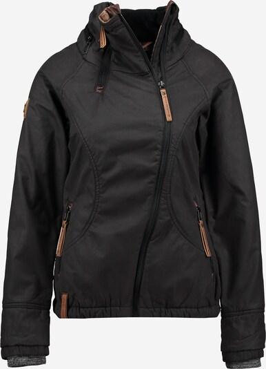 naketano Jacke mit asymmetrischen Zipper in schwarz, Produktansicht