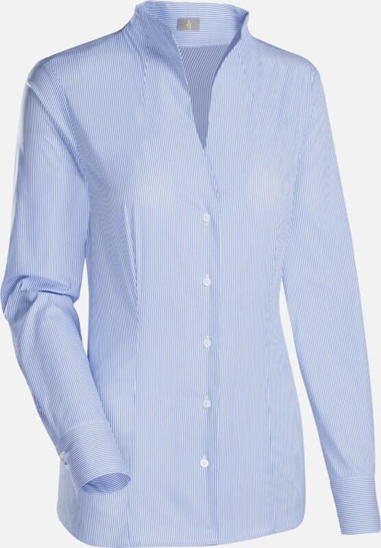 Jacques Britt City-Blause in hellblau   weiß  Mode neue Kleidung