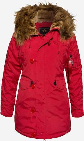 Manteau mi-saison 'Explorer' ALPHA INDUSTRIES en rouge