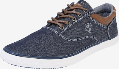 TOM TAILOR Sneakers laag in de kleur Navy / Wit, Productweergave
