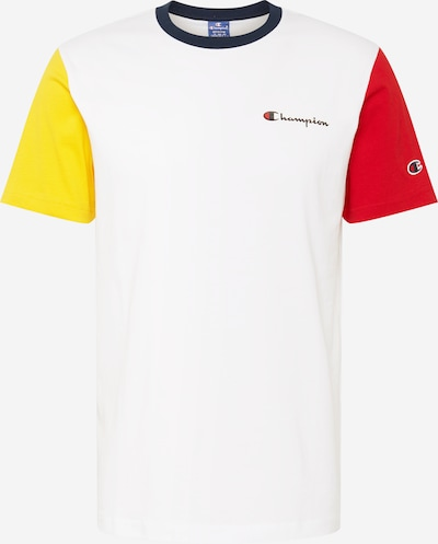 Champion Authentic Athletic Apparel T-Shirt fonctionnel en bleu / jaune / rouge / blanc, Vue avec produit