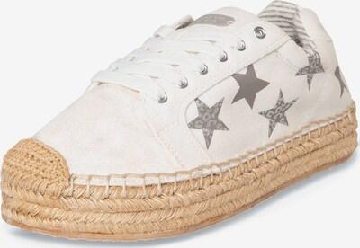 Soccx Plateau-Espadrille mit Sternen-Print in weiß, Produktansicht