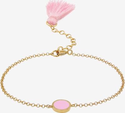 ELLI Armband 'Geo, Tassel' in de kleur Goud / Pink: Vooraanzicht