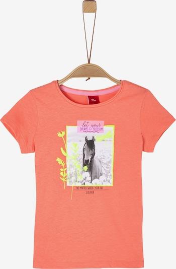 s.Oliver Shirt in gelb / orange / pink / schwarz, Produktansicht