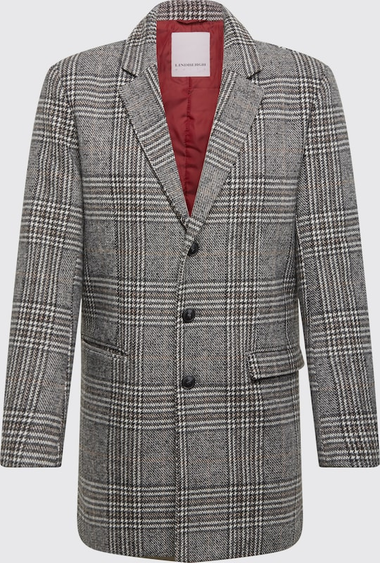 Lindbergh Mantel 'Checked coat' in grau, Produktansicht