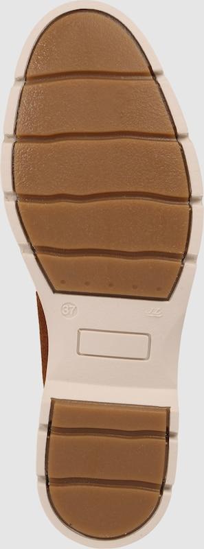 BULLBOXER Leder-Stiefelette mit gerafftem Schaft
