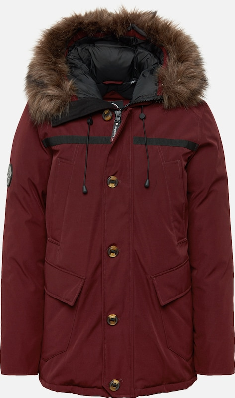 Superdry Winterparka 'ROOKIE DOWN' in de kleur Bourgogne, Productweergave