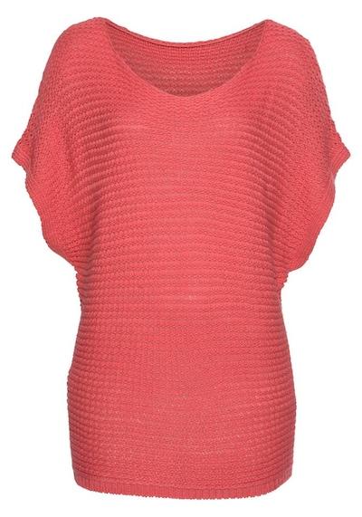 LASCANA Pullover in koralle, Produktansicht