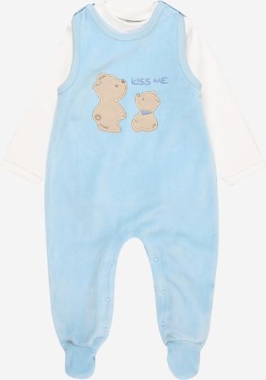 Salopetă/Body 'BASIC LINE Newborn' JACKY pe albastru deschis / alb, Vizualizare produs