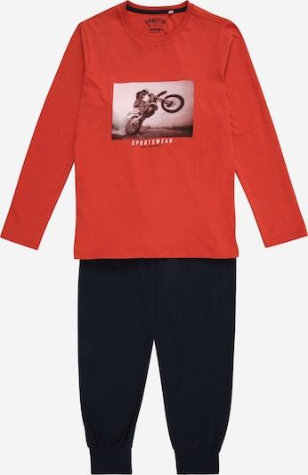 SANETTA Pyjama in nachtblau / rot, Produktansicht