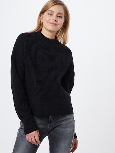 G-Star RAW Pullover 'Weet r knit wmn l\s' in schwarz, Modelansicht