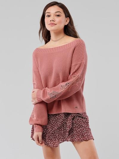 HOLLISTER Pullover  'STITCH VNECK SWEATER 3CC' in rosé, Modelansicht