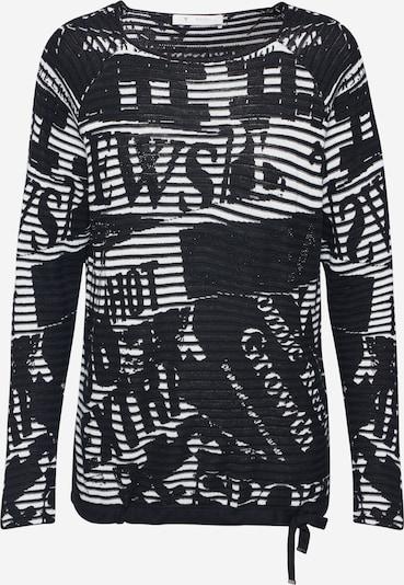 monari Pullover in schwarz / weiß: Frontalansicht